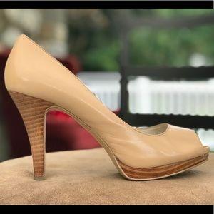 Nine West open toe heels size 8